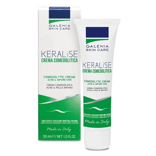 Crème purifiante Galenia Skin Care® KERALISE contre les imperfections des peaux déséquilibrées en prévenant la formation des points noirs et l'obstruction des pores