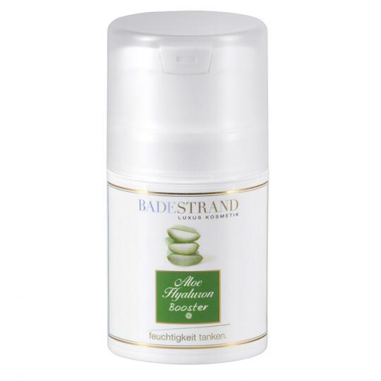 Aloe hyaluronique Booster d'humidité Badestrand Anti-âge pour une utilisation sur la peau déshydratée avec aloe vera