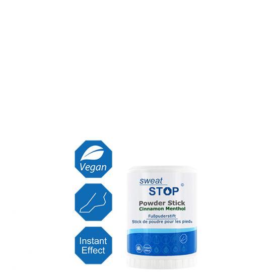 SweatStop® Powder Stick Menthol pour les pieds pour une utilisation contre la transpiration et l'odeur des pieds