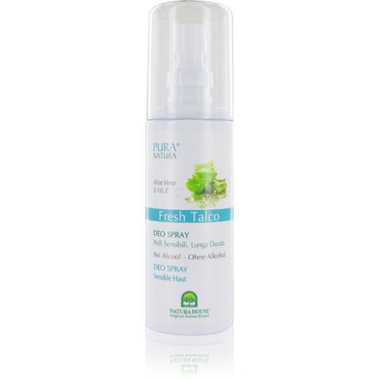 Déo en spray Fresh Talco Pura Natura® combine les propriétés anti-odeurs et protectrices du déodorant avec ingrédients végétaux