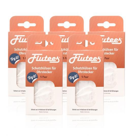 Embouts de protection pour clous d'oreille Flutees - 5 pcs