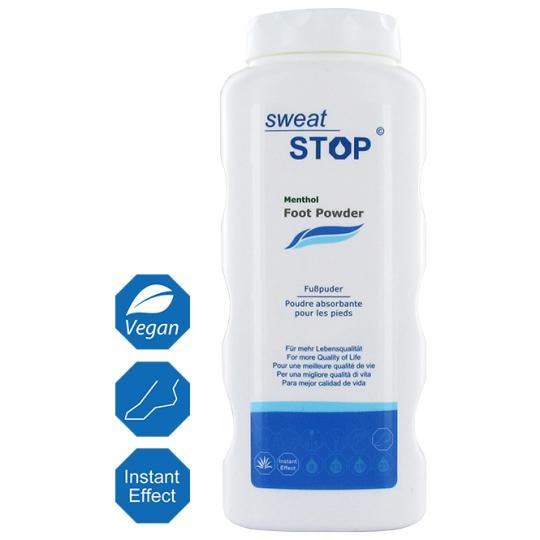 SweatStop® Menthol poudre pour les pieds pour un climat de pied sec et agréable avec du menthol