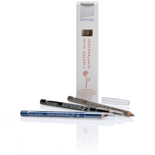Eyeliner 3 Crayons Galenia Skin Care® avec pointe de stylo hypoallergénique