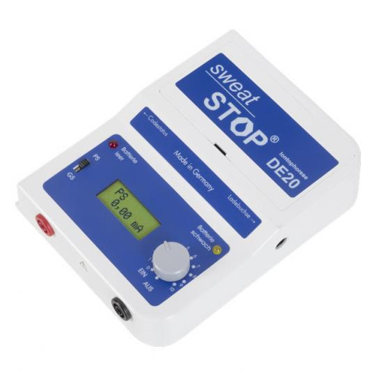 SweatStop® Ionophorèse DE20 appareil de thérapie contre l'hyperhidrose des mains, des pieds, des aisselles, du visage