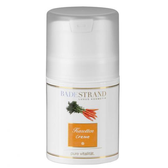 Crème à la carotte Badestrand pour chaque type de peau soin du visage approprié pour le jour et la nuit avec ingrédients végétaux