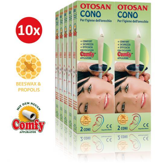 Bougie d'Oreille Otosan® 10 pcs élimine le cérumen résout les problèmes comme les sifflements, les bruits de fond