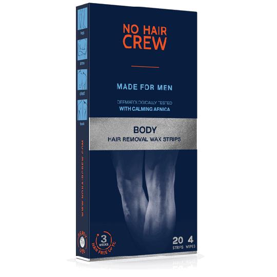 NO HAIR CREW Bandes de cire pour l'épilation du corps - pour hommes