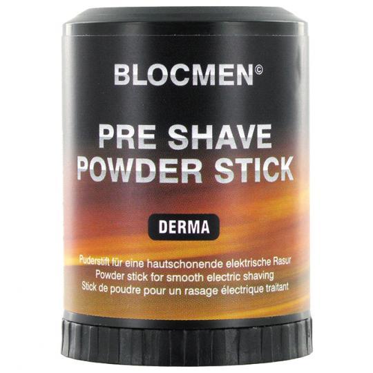 Stick de poudre avant-rasage BLOCMEN© Derma sans parfum ni colorant