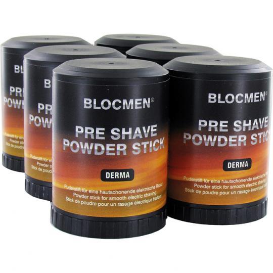 Stick de poudre avant-rasage BLOCMEN© Derma sans parfum ni colorant 6 pcs