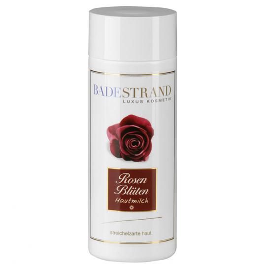 Lait pour le corps aux pétales de rose Badestrand pour un moment de soin relaxant avec ingrédients végétaux