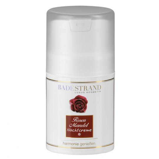 Crème de nuit à l'amande douce et à la rose Badestrand pour soin idéal