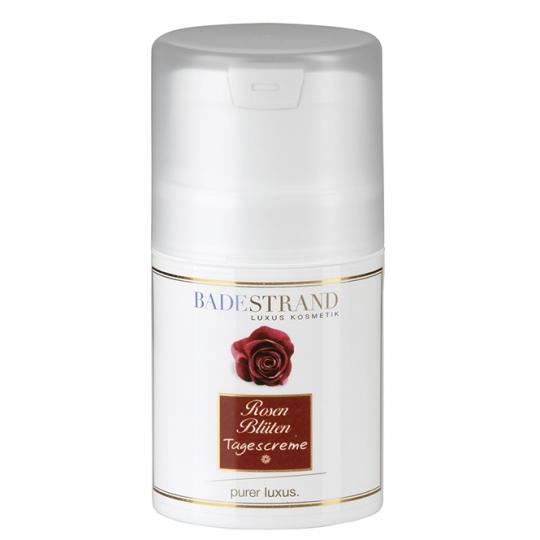 Crème de jour aux pétales de rose Badestrand a un effet apaisant agréable sur la peau et donne un beau teint