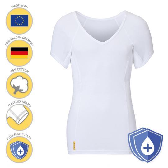 Homme-V-classic-PLUS-shirt MANJANA® avec protection des aisselles particulièrement absorbante pour les hommes